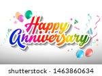 happy birthday hand drawn... | Shutterstock .eps vector #1463860634