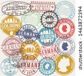 cologne germany set of stamps.... | Shutterstock .eps vector #1463872394