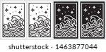 oriental wave line illustration....   Shutterstock .eps vector #1463877044