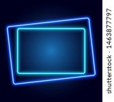 glowing neon geometric frame on ... | Shutterstock .eps vector #1463877797
