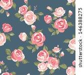 seamless cute vintage rose ... | Shutterstock .eps vector #146388275
