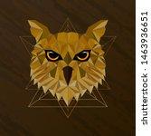 owl bird low poly design | Shutterstock .eps vector #1463936651