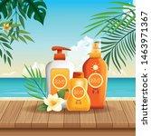solar protection bottles set of ...   Shutterstock .eps vector #1463971367