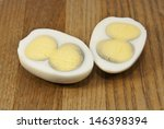Two Halves Of An Egg With...