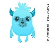 Stock photo funny cartoon bigfoot or sasquatch or yeti illustration 1463993921