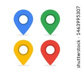 colorful of location pin icon... | Shutterstock .eps vector #1463995307
