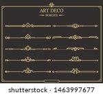 set of art deco gold... | Shutterstock .eps vector #1463997677