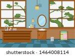 japanese bathroom residential... | Shutterstock .eps vector #1464008114