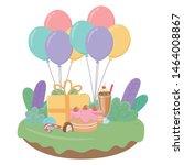 happy birthday surprise design... | Shutterstock .eps vector #1464008867