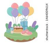 happy birthday surprise design... | Shutterstock .eps vector #1464009614