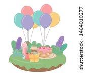 happy birthday surprise design... | Shutterstock .eps vector #1464010277