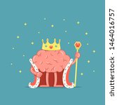 cartoon king brain character....   Shutterstock .eps vector #1464016757