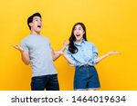 shocked amazed young man and... | Shutterstock . vector #1464019634