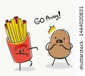 cute potato scared from potato...   Shutterstock .eps vector #1464020831