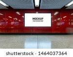 blank billboard located in... | Shutterstock . vector #1464037364