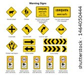 warning signs collections ... | Shutterstock .eps vector #1464050444