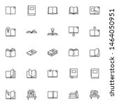 books line icons set. linear... | Shutterstock .eps vector #1464050951