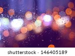 Image Of Raindrops On Window A...
