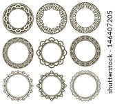 Set Of 9 Vector Circle Ornate...