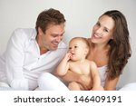 portrait of a happy mother and... | Shutterstock . vector #146409191
