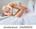 portrait of mother and child... | Shutterstock . vector #146409245