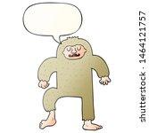 cartoon bigfoot with speech... | Shutterstock . vector #1464121757