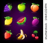 colorful fruit slots icon set... | Shutterstock .eps vector #1464132494