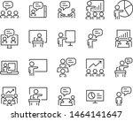 set of training icons  teaching ... | Shutterstock .eps vector #1464141647