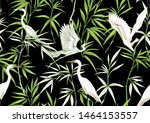 tropical plants and flowers and ... | Shutterstock .eps vector #1464153557