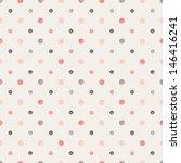 seamless pattern. casual polka... | Shutterstock .eps vector #146416241