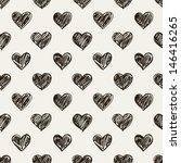 seamless pattern. casual polka... | Shutterstock .eps vector #146416265