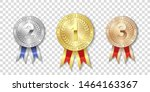 champion gold  silver and... | Shutterstock .eps vector #1464163367