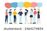 group of people talking.... | Shutterstock .eps vector #1464174854