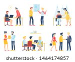 business people character in... | Shutterstock .eps vector #1464174857