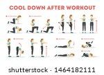 cool down after workout... | Shutterstock .eps vector #1464182111