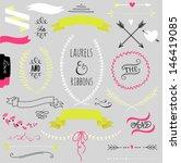 wedding graphic set  arrows ... | Shutterstock .eps vector #146419085