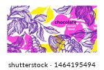 cacao paint template. tropical... | Shutterstock .eps vector #1464195494