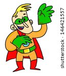 superhero with green gloves | Shutterstock . vector #146421557