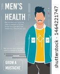 support men health awareness... | Shutterstock .eps vector #1464221747