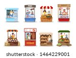 food market set. product from... | Shutterstock .eps vector #1464229001