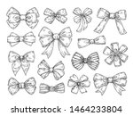 hand drawn bow. fashion tie... | Shutterstock .eps vector #1464233804