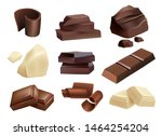 chocolate. sweets dessert parts ... | Shutterstock .eps vector #1464254204