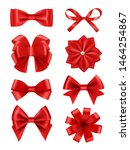 bow realistic. ribbons for... | Shutterstock .eps vector #1464254867