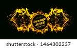 orange juice splash vector... | Shutterstock .eps vector #1464302237