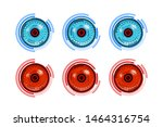 cyber eye or retina scanning... | Shutterstock .eps vector #1464316754