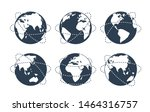 the globes with dotted lines... | Shutterstock .eps vector #1464316757