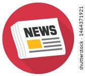 vector icon newspaper.... | Shutterstock . vector #1464371921