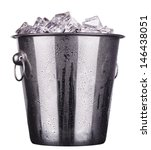 Champagne Metal Ice Bucket ...