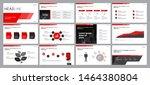 set red business presentation... | Shutterstock .eps vector #1464380804