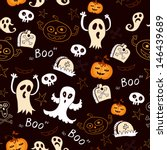 seamless halloween background... | Shutterstock .eps vector #146439689